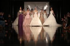 ISTANBUL TURKEY - JANUARY 31 2016: Models showcase the latest creations of Seren Moda during Wedding Fair.